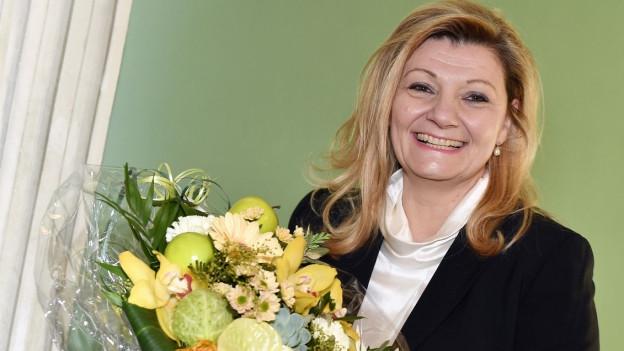 Blumen für Cornelia Stamm Hurter.