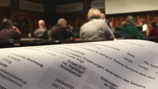 Das Schaffhauser Parlament beschliesst Steuersenkung