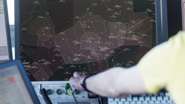 Ein Radar der Flugsicherung Skyguide.