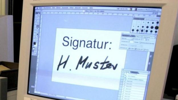 Eine elektronische Unterschrift: Nun mischt auch der Kanton Schaffhausen mit.