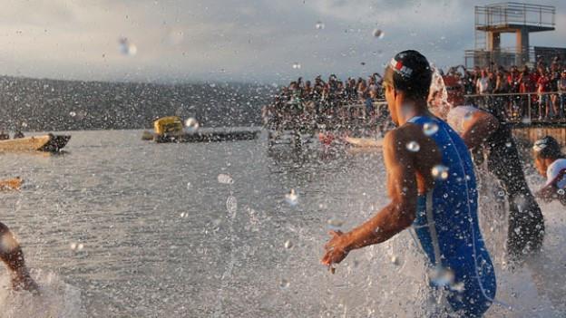 Athleten am Zürcher Ironman