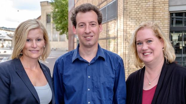 Portrait der Winterthurer SP-Stadtratskandidaten Yvonne Beutler, Nicolas Galladé und Christa Meier.