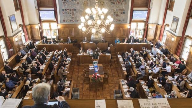 Blick in den Zürcher Ratsaal