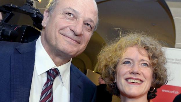 FDP-Stadtrat Filippo Leutenegger und Stadtpräsidentin Corine Mauch