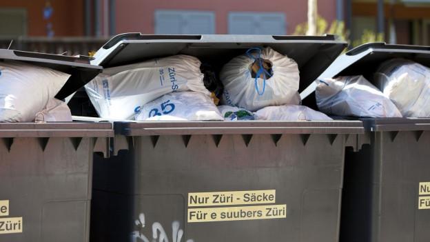 Tiefere Gebühren für Abfallverwertung.