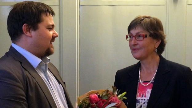 Claudia Eimer nach erfolgter Nomination.