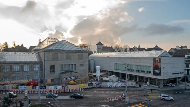 Das Kunsthaus in Zürich ist momentan eine grosse Baustelle.