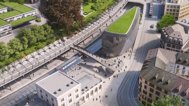 Das neue Haus in der Visualisierung: oben breiter als unten.