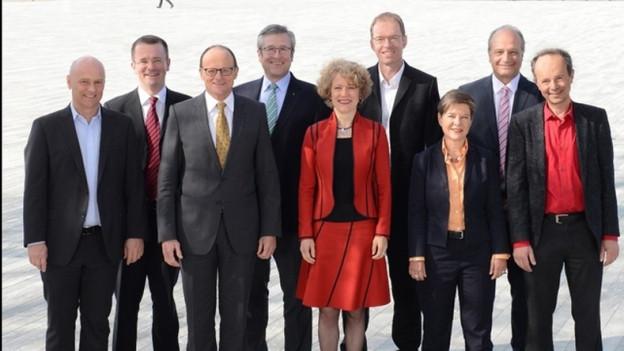 Gruppenbild - noch mit neun Stadtratsmitgliedern