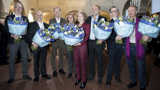 Die neue Crew: Noch fehlt auf diesem Bild Michael Baume, der neue FDP-Stadtrat.