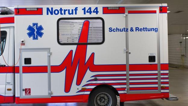 Eine Ambulanz von «Schutz und Rettung Zürich»
