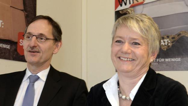 Sicherheitsdirektor Mario Fehr (SP) und Justizdirektorin Jacqueline Fehr (SP)