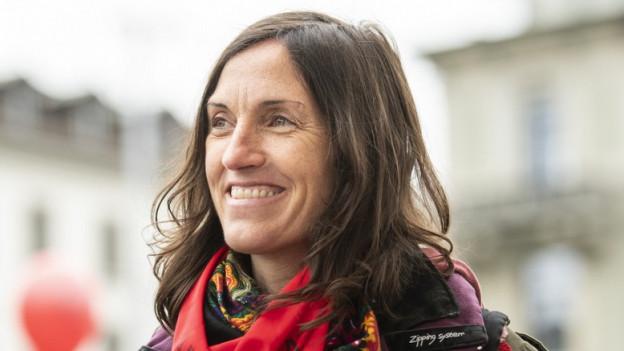 Sie fühlte sich geehrt, in Zürich auftreten zu können: Nekane Txapartegi, baskische Aktivistin