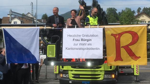 Rüti feiert Yvonne Bürgin