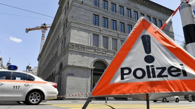 Polizeiabsperrung in Zürich