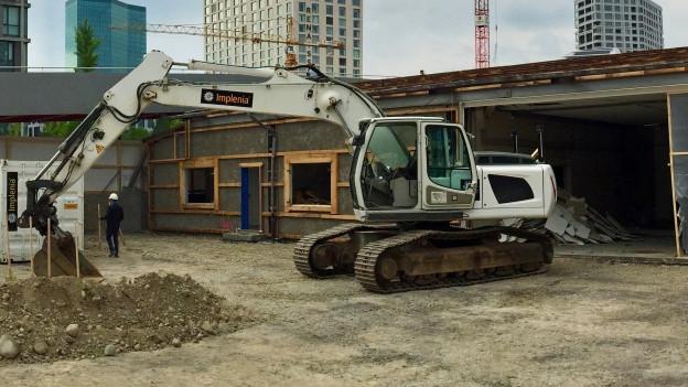 Baustelle für das neue Bundesasylzentrum in Zürich-West