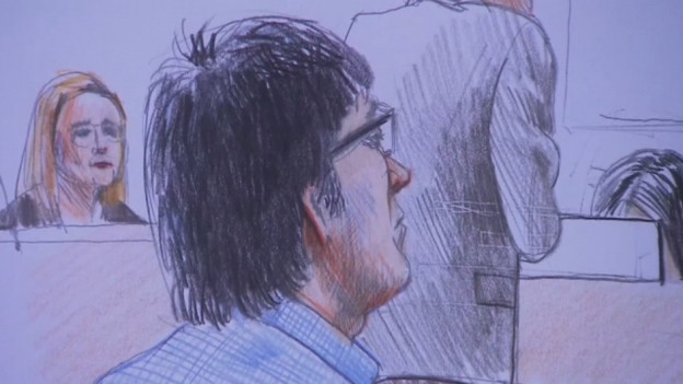Zeichnung aus dem Gerichtssaal