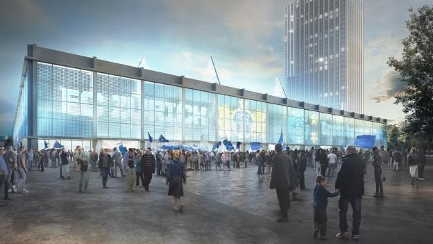 Das geplante Stadion in Zürich