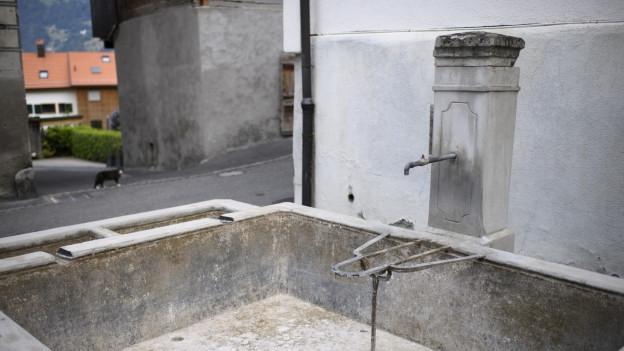 Ein Brunnen ohne fliessendes Wasser