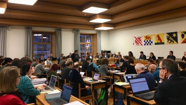 Das Winterthurer Stadtparlament bei der Budgetdebatte.