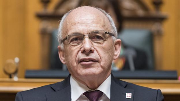 Portrait von Bundespräsident Ueli Maurer.