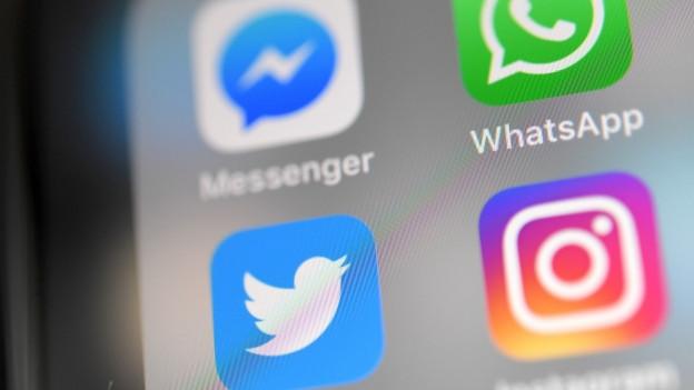 Die Apps von Facebook, Whatsapp, Twitter und Instagram.