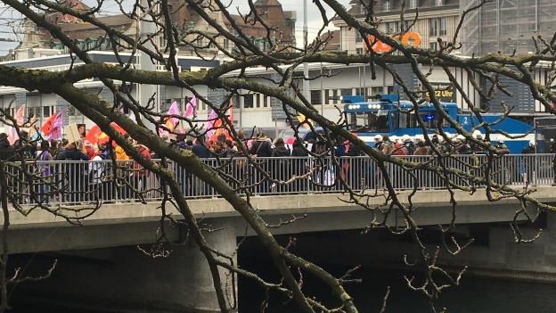 Die Frauen-Demo in Zürich.