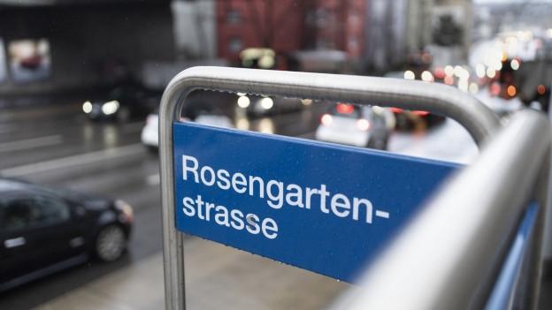 Der starke Autoverkehr an der Zürcher Rosengartenstrasse ist seit Jahrzehnten eine grosse Belastung.