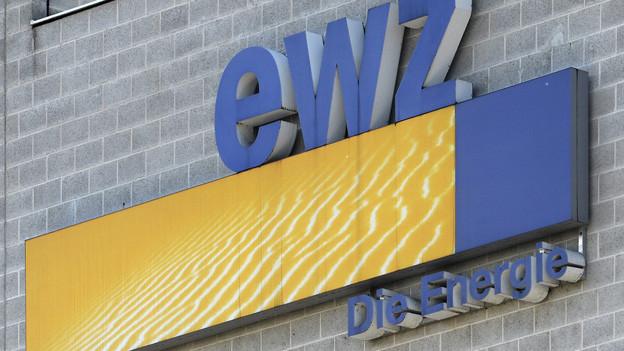 Das Logo des Elektrizitätswerks der Stadt Zürich, ewz