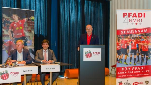 Freude und Zuversicht nach der geglückten Sammelaktion bei Vertretern von Pfadi Winterthur.