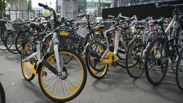 Ein Meitvelo der Firma O-Bike.