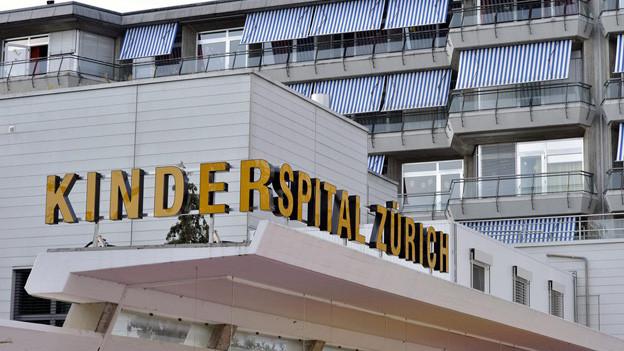 Der Eingangsbereich des Kinderspitals Zürich.