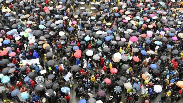 Klima-Demonstration in Zürich