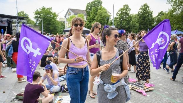 Teilnehmerinnen am Frauentreik