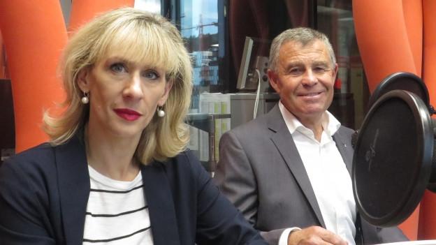 Priska Seiler Graf (SP) und Ernst Stocker (SVP)