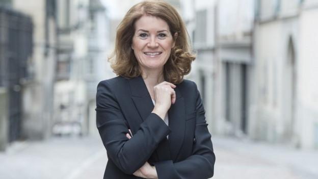 Die Zürcher SVP-Politikerin Susanne Brunner in einem Portrait.