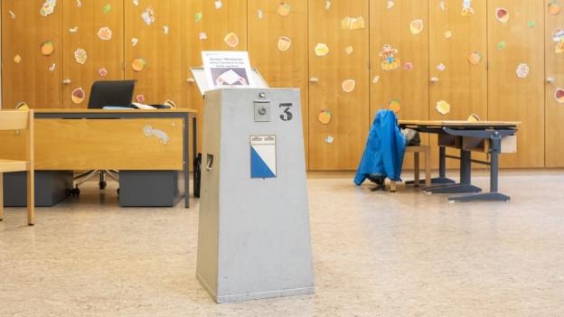 Wahlurne im Kanton Zürich