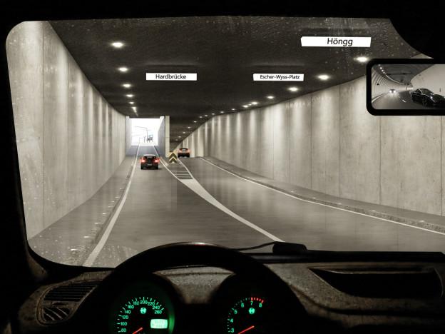 Die Stadtzürcher Regierung sagt JA zum Rosengartentunnel.