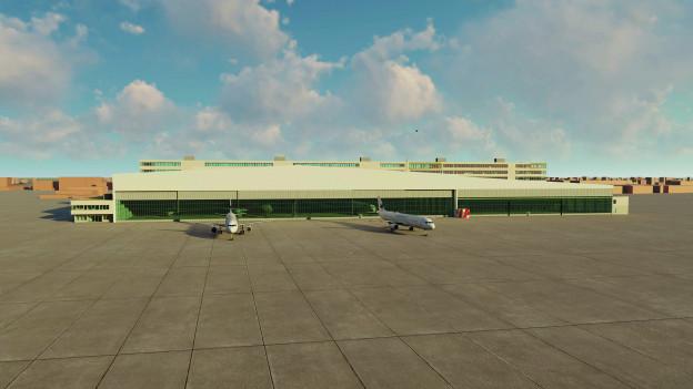 Das neue Hangar für Businessfliegerei.