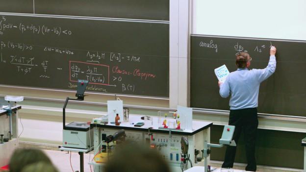Unterricht an der Universität Irchel in Zürich