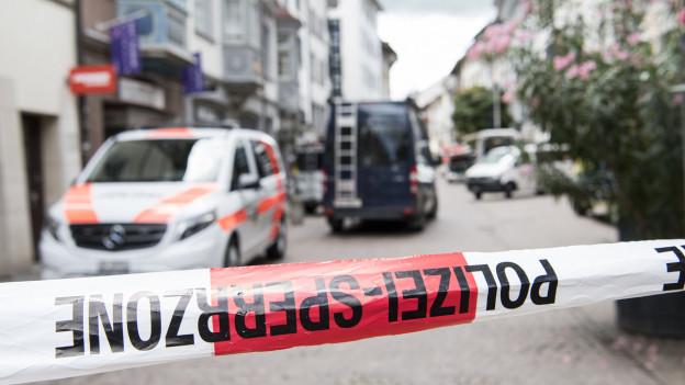 Die Schaffhauser Innenstadt ist von der Polizei abgeriegelt worden.