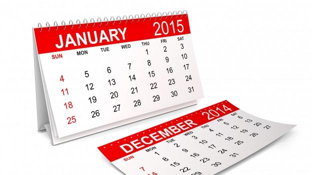 Chalender cun marcà en cotschen ils 02.01.2015.