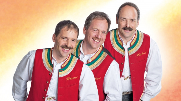Ils trais musicists da la gruppa Zellberg Buam.