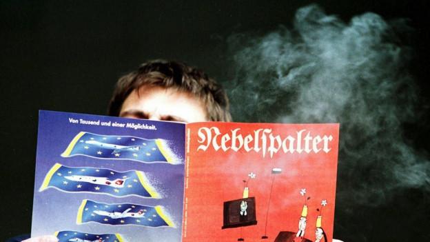 Um che legia il magazin «Nebelspalter».