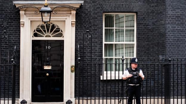 Entrada dal bajetg «10 Downing Street» a Londra.