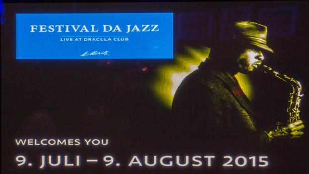 Il logo dal festival da jazza a San Murezzan.