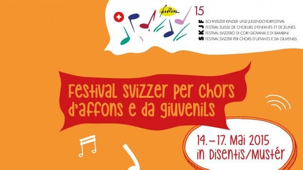 Logo dal Festival svizzer per chors d'uffants e giuvenils SKJF.