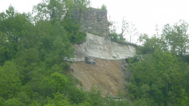 La ruina da Cartatscha vegn sanada.