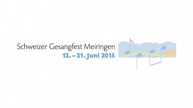 Logo da la festa svizra da chant 2015 a Meiringen.