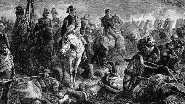 Scena da la battaglia da Waterloo.